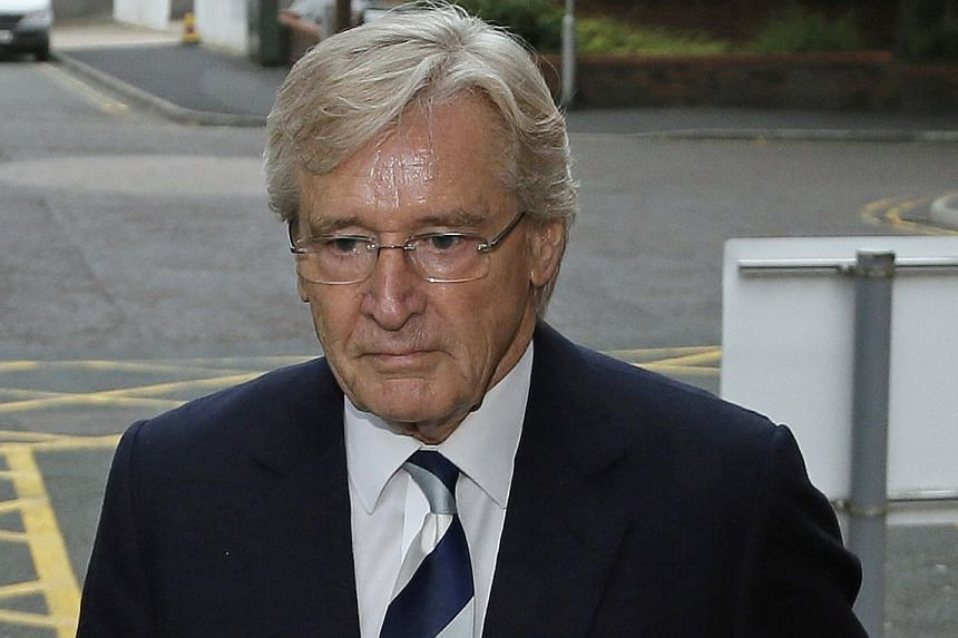 British actor William Roache, who plays the character of Ken Barlow in the soap opera Coronation Street, arrives for a hearing at Preston Crown Court in Preston, northern England on Monday, Sept 2, 2013. Roachepleaded not guilty in court on Mon