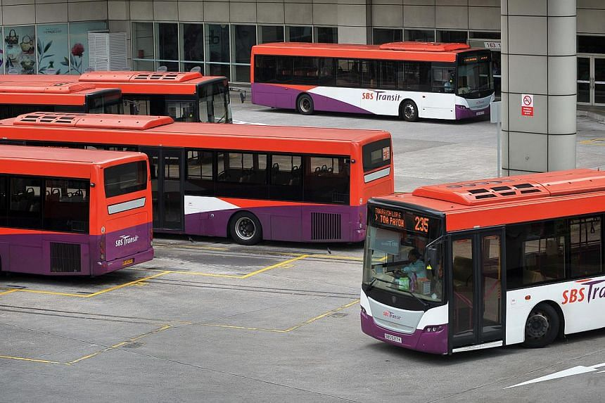 SBS Transit buses at the Toa Payoh bus interchange.There is currently no shortage of bus drivers, even as more buses are added ahead of schedule as part of a $1.1 billion service enhancement programme, said the Land Transport Authority (LTA). -