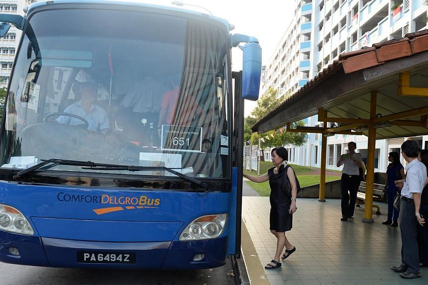 The bus stop opposite Gek Pok Shopping Centre is one of the stops on the Jurong West City Direct route. The two-year contract for the route was won by ComfortDelGro Bus, which launched City Service 651 yesterday.