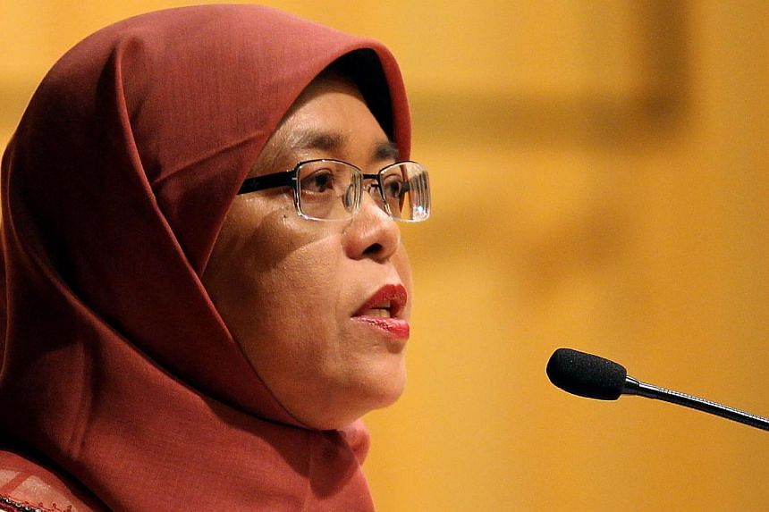 Speaker of Parliament Halimah Yacob says it is now a good time for corporations to go beyond their usual corporate social responsibility activities like corporate philanthropy and volunteerism. -- BH FILE PHOTO: MOHD TAUFIK A KADER