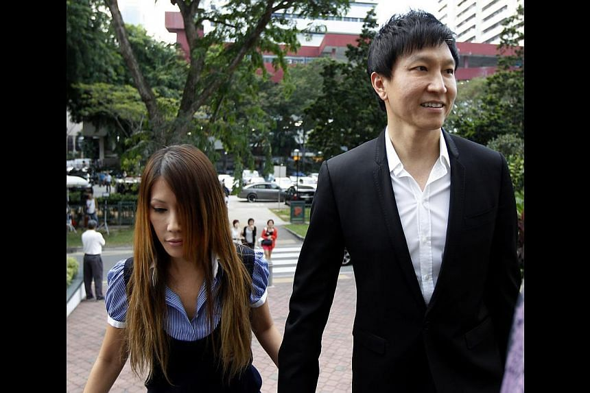Kong Hee and wife, Ho Yeow Sun, arrive at the Subordinate Courts on Aug 26, 2013. The individual who hacked into co-founder of City Harvest Chuch and pop singer Ho Yeow Sun's website has resurfaced with more rants against her and husband, church past
