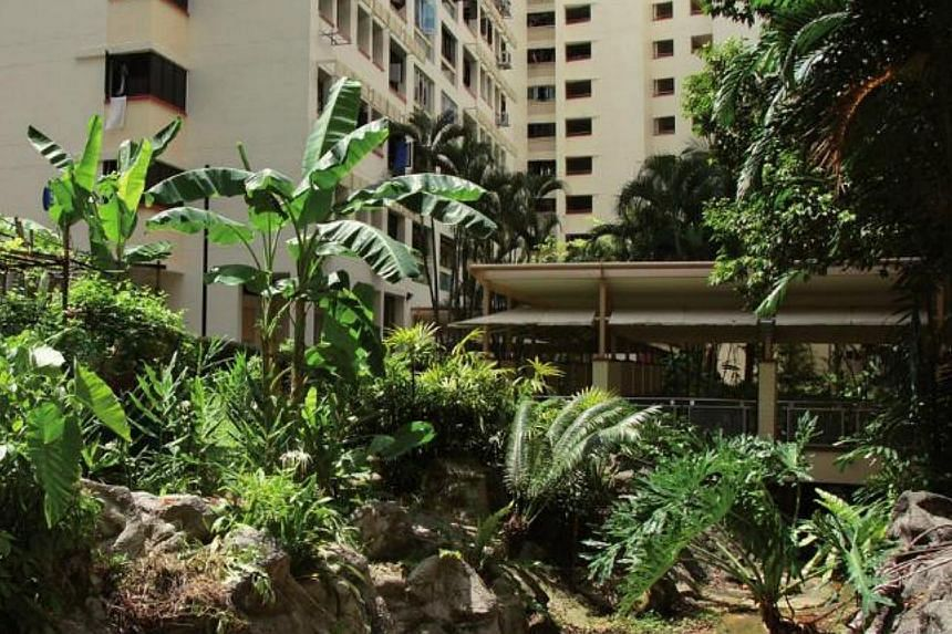 A dry stream in Pang Shan Grove is designed as a natural landscape element. -- PHOTO: SCREENGRAB OF HDB'S LANDSCAPE GUIDE