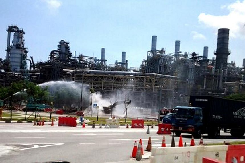 PowerGas is planning to appeal against a $1.5 million fine imposed on them by authorities for a gas leak in Jurong Island last April. -- FILE PHOTO: WANBAO READER