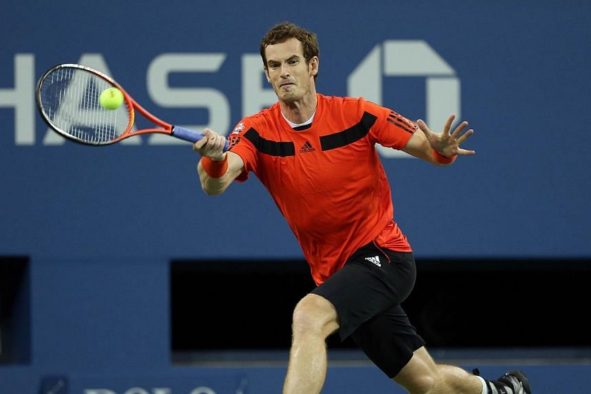 Andy Murray of Great Britain returns a forehand during his men's singles fourth round match against Denis Istomin of Uzbekistan on Day Nine of the 2013 US Open at USTA Billie Jean King National Tennis Center on Sept 3, 2013, in the Flushing neighbour