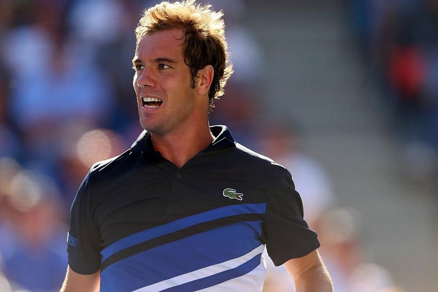 Richard Gasquet of France looks on during his men's singles quarter-final match against David Ferrer of Spain at the 2013 US Open on Sept 4, 2013 in the Flushing neighbourhood of the Queens borough of New York City. French eighth seed Gasquet reached