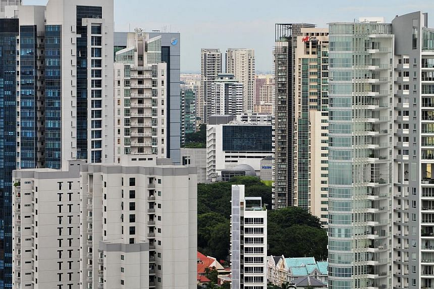 Condominiums in the Newton Road area. Resale prices of non-landed private homes rose by a surprise 1.5 per cent in August, the latest report from Singapore Real Estate Exchange (SRX) showed on Friday. -- ST FILE PHOTO: ALPHONSUS CHERN