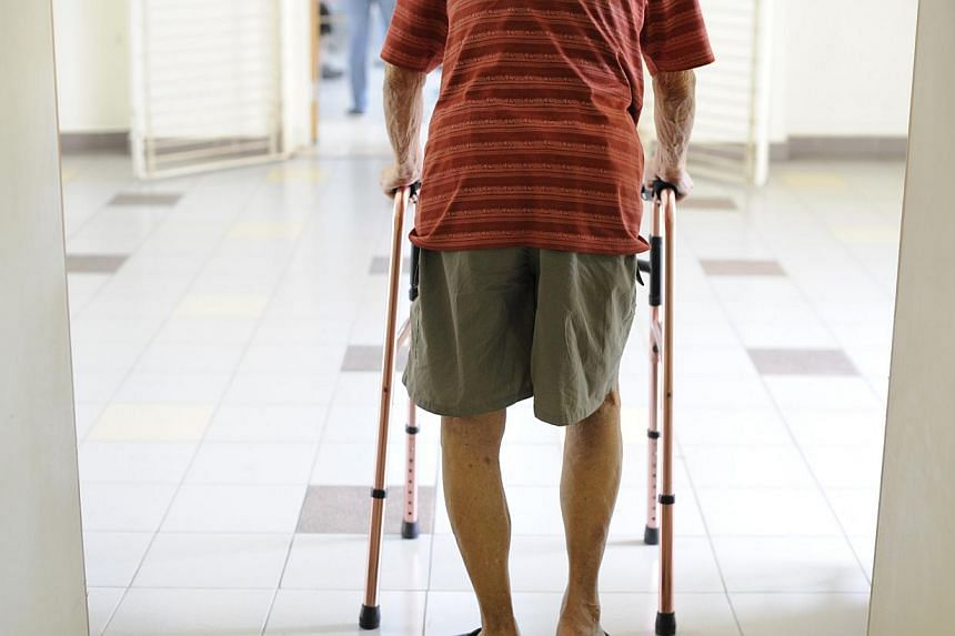 An elderly with walking aid. For stories on ageing popluation, loneliness, Eldercare, Eldershield, healthcare, and others.The Health Ministry is increasing Medisave withdrawal limits for MediShield and Integrated Shield plans premiums from Nov