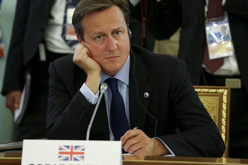 Britain's Prime Minister David Cameron attends the first working session of the G20 Summit in Constantine Palace in Saint Petersburg, on Sept 5, 2013. Mr Cameron said on Thursday that Britain had further evidence of the use of chemical weapons in Syr
