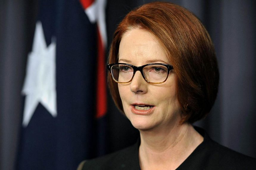 Then Australian Prime Minister Julia Gillard at Parliament House, Canberra on June 26, 2013. MsGillard quietly exited politics on Saturday, Sept 7, 2013, congratulating the woman who has taken over her constituency as Labor faced defeat in nati