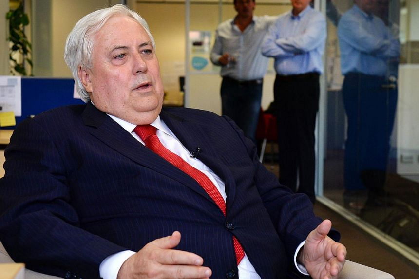 Eccentric resources baron Clive Palmer emerged as a surprise winner in Australia's elections on Saturday, polling strongly in his native Queensland and on track to win a seat. -- FILE PHOTO: AFP