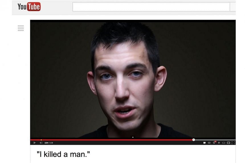 This video frame grab provided by Alex Sheen of becauseisaidiwould.com shows Matthew Cordle. Mr Cordle, a22-year-old Ohio motorist, dramatically claimed responsibility for a drunk-driving fatality, and urged others not to repeat his tragic mist