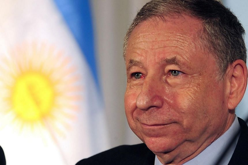 The president of the International Automobile Federation (FIA),Jean Todt, arrives for a press conference at the Argentine Automobile Club on Aug 1, 2013 to mark the XV FIA American Congress. MrTodt will stand for re-election as president