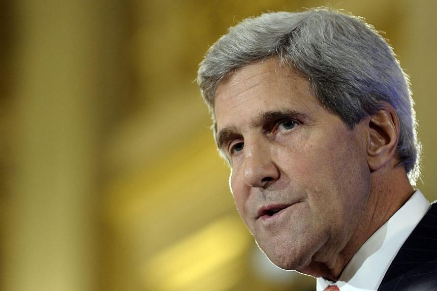 US Secretary of State John Kerry flaunted his fluency in the language on Saturday to deliver something of a love letter to France, one of the few world powers that seems likely to join the United States in any military action against Syria. -- PHOTO: