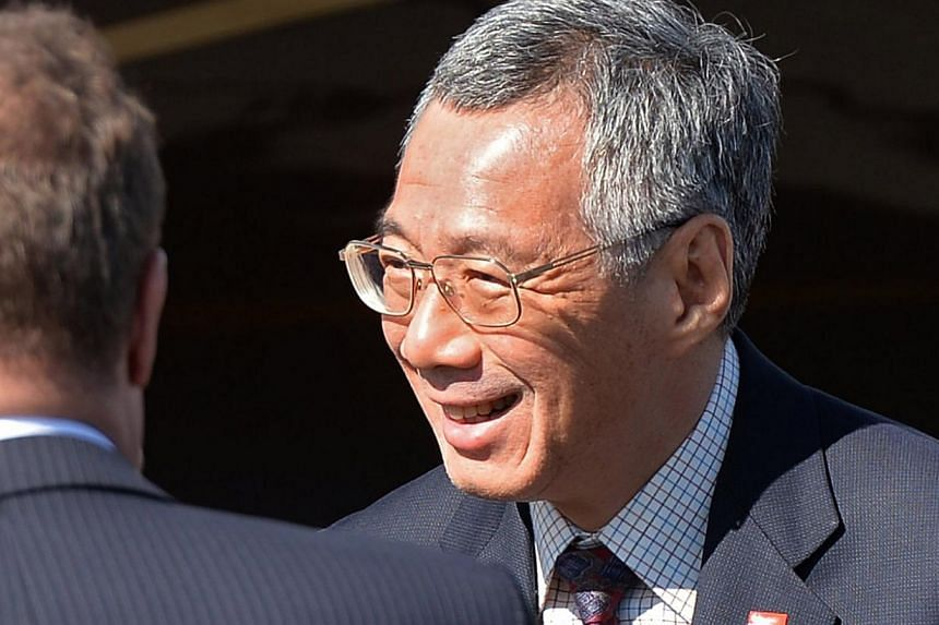 Prime Minister Lee Hsien Loong at St Petersburg for the G20 Leaders' Summit on Septermber 4, 2013. He congratulated Mr Tony Abbott on leading the Australian Liberal-National Coalition to victory at the Australian polls on September 7, 2013.&nbsp