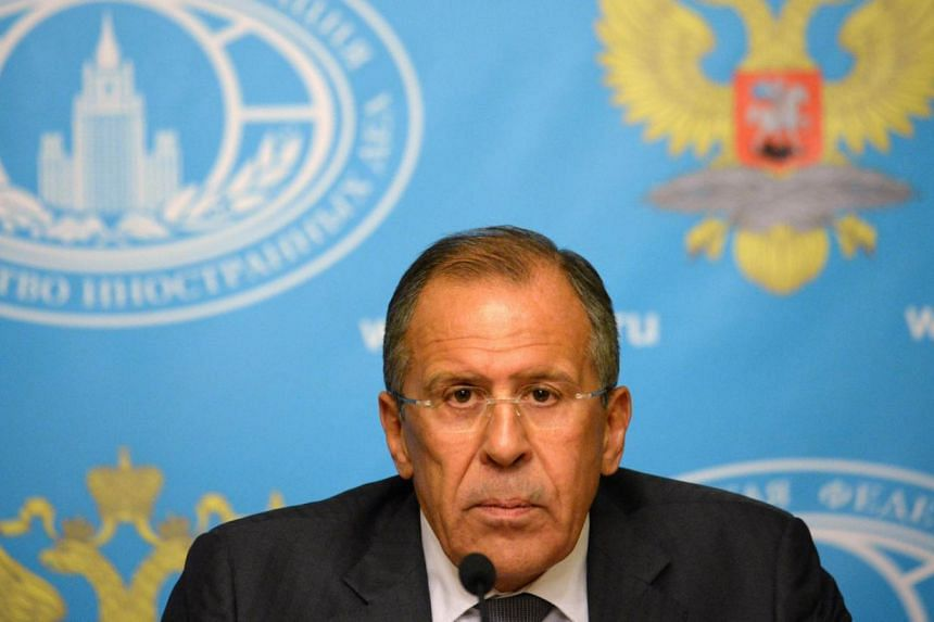 Russian Foreign Minister Sergei Lavrov (above) called on the Syrian regime to hand over control of its chemical weapons arsenal to international supervision as a way of staving off the threat of military action. -- PHOTO: AFP
