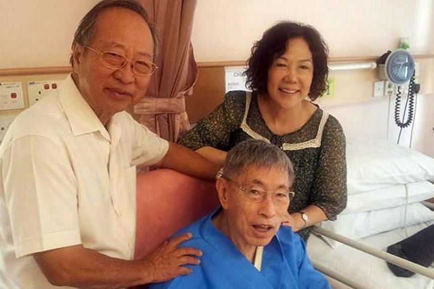 Dr Tan Cheng Bock posted a photo of himself with Mr Chiam See Tong (seated) and his wife, NCMP Lina Chiam, on Facebook.