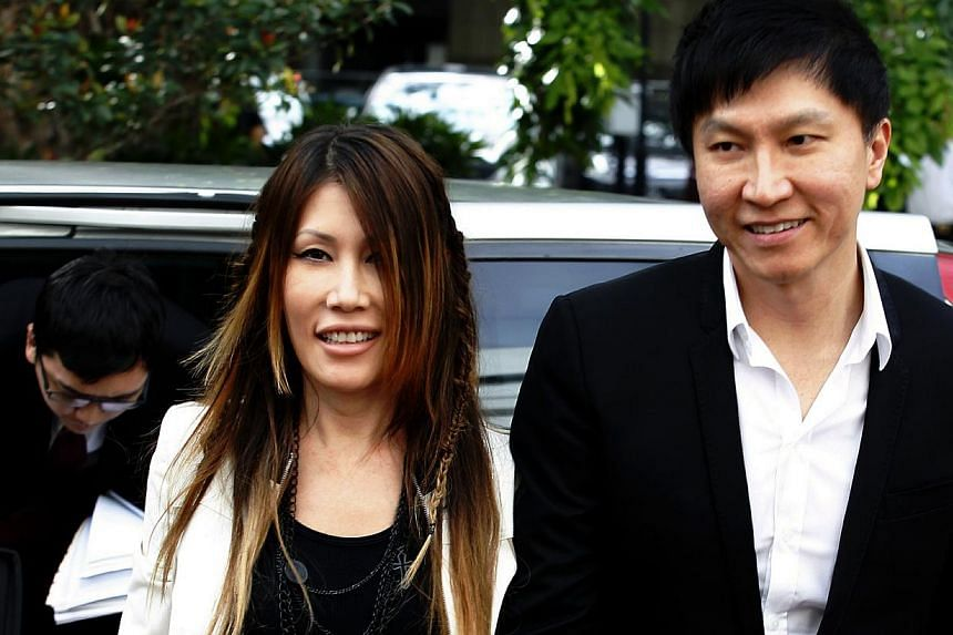 Kong Hee and his wife Sun Ho, arriving at court on Monday, Sept 9. City Harvest was never at any risk of losing the money it had loaned to a company, and the financial transactions were reasonable and legitimate. -- ST PHOTO: WONG KWAI CHOW