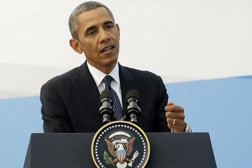 US President Barack Obama speaks during his news conference at the G-20 Summit in St. Petersburg, Russia, Friday, Sept. 6, 2013.Washington deepened its diplomatic offensive at home and abroad Sunday as President Barack Obama braced for a key we