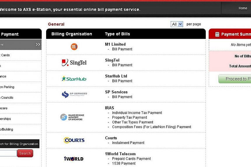The AXS e-Station is pictured in this screen capture from the AXS website. Solution provider AXS officially launched two new payment channels on Tuesday that allows users to pay bills and fines in the comfort of their homes or while on the go. -- PHO