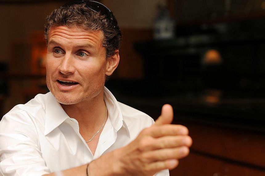 David Coulthard, former Red Bull F1 driver and current BBC pundit.  -- ST FILE PHOTO: LAU FOOK KONG