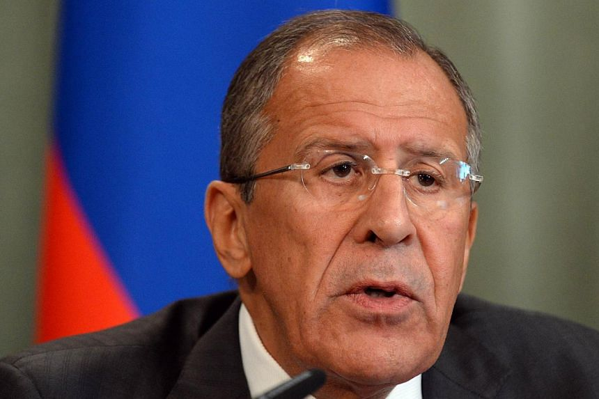 Russian Foreign Minister Sergei Lavrov gives a press conference with his Syrian counterpart on Sept 9, 2013 following a meeting in Moscow. Russia's proposal to place Syria's chemical weapons under international control would be troublesome to enact g