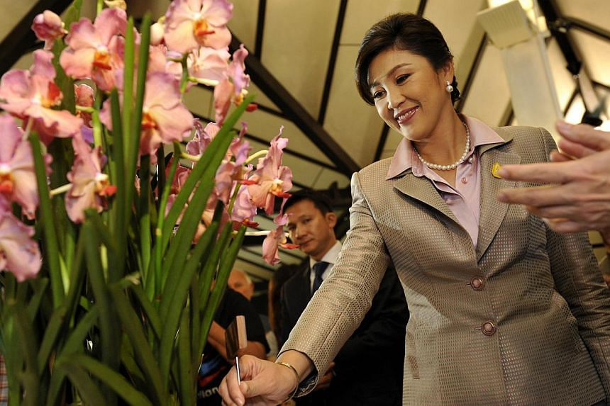 Thai Prime Minister Yingluck Shinawatra visited the Singapore Botanic Gardens to see the orchid, named Ascocenda Yingluck Shinawatra on Dec 8. 2011.The National Heritage Board and the National Parks Board are seeking public feedback ahead of th