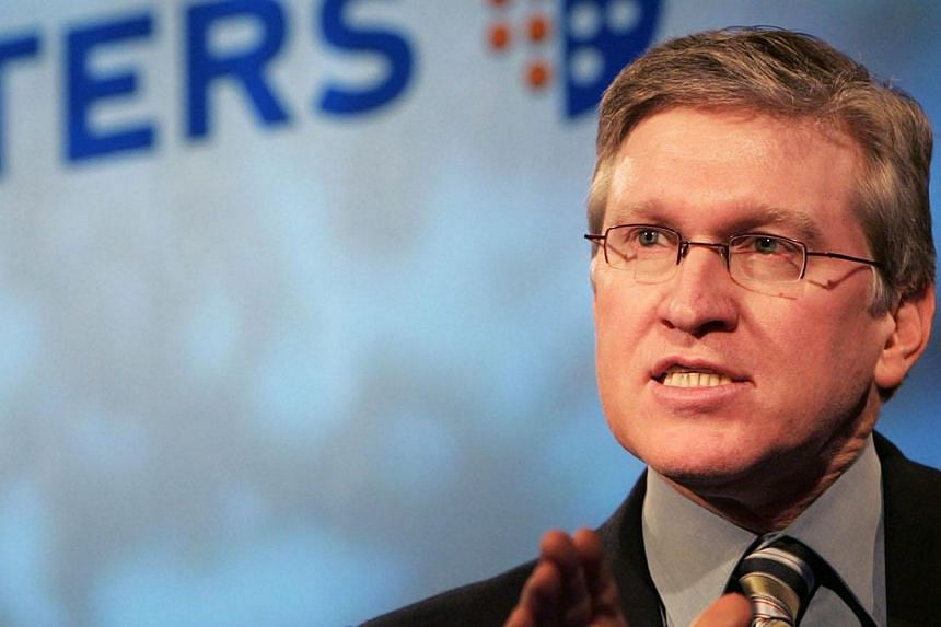 Jeff Raikes, President of Microsoft Business Division, speaks at the launch of Reuters Messaging 5.0 at the Reuters Global headquarters in Canary Wharf, London, in this file photo from November 21, 2005. Mr Jeff Raikes, the chief executive of Bill Ga