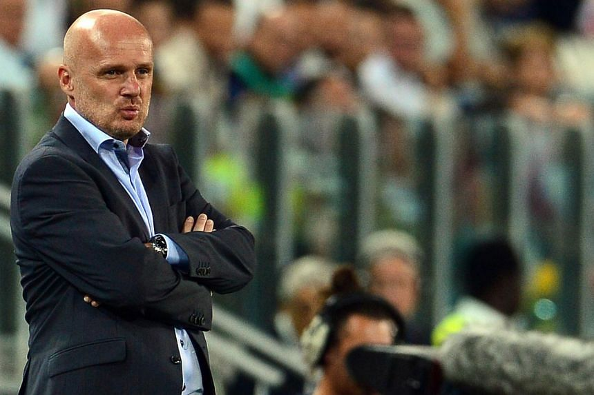 Czech Republic's head coach Michal Bilek is pictured during Czech Republic's Fifa World Cup Qualifying group match against Italy at Juventus Stadiumon Tuesday, Sept 10, 2013.Bilek has resigned following his side's 1-2 loss to Italy in a W