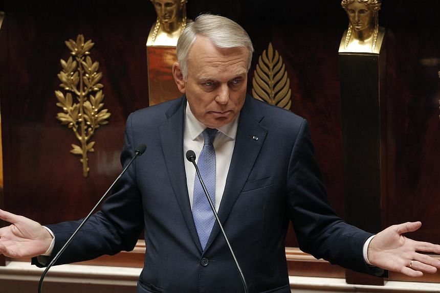 France's Prime Minister Jean Marc Ayrault delivers a speech at the National Assembly in Paris on Wednesday, Sept 4, 2013.France said on Wednesday, Sept 11, 2013, it remained determined to punish Syrian President Bashar al-Assad over what it cal