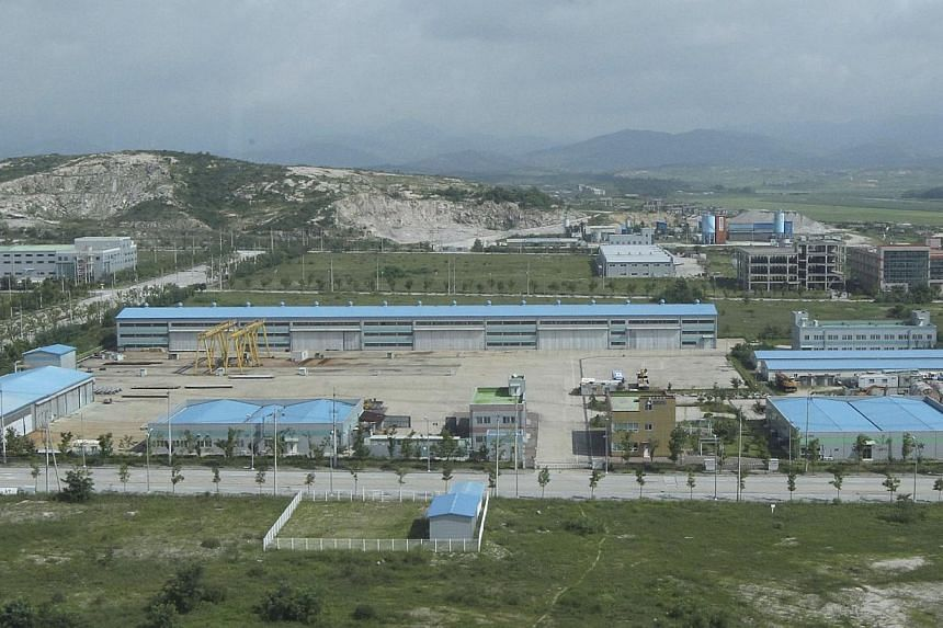 Part of Kaesong Industrial Complex is seen in this photo taken from the Kaesong Industrial District Management Committee building in Kaesong Aug 14, 2013. North and South Korea agreed on Wednesday to reopen their Kaesong joint industrial park next we