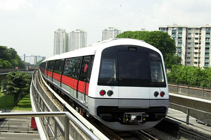 An MRT train is pictured in this May 8, 2000 file photo. The Land Transport Authority (LTA) will call a tender in the first quarter of next year for a consultant to conduct an environmental impact assessment (EIA) for the future Cross Island Line. --