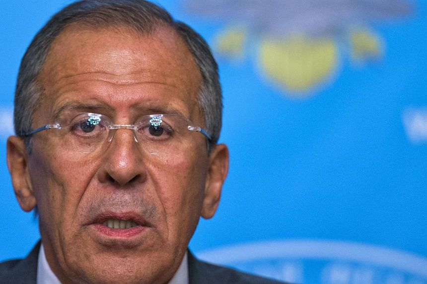 Russian Foreign Minister Sergey Lavrov speaks at a news conference in Moscow on Sept 9, 2013. The United States administration has hit back against sneers it had accidentally stumbled on a way to avert military strikes on Syria, saying ideas for secu