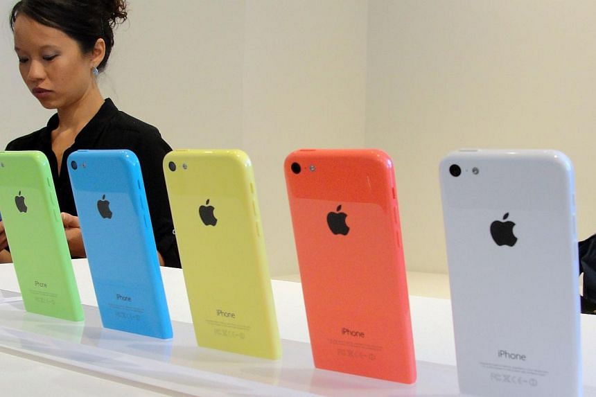 The new lower-cost iPhone 5C will debut in a set of lively colors at an iPhone event at Apple's headquarters in Silicon Valley on Sept 10, 2013 in Cupertino, California. Apple's launch of two new iPhones raised fresh doubts Wednesday about its strate