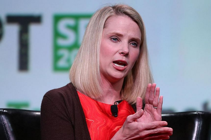 Yahoo CEO Marissa Mayer speaks during the 2013 TechCrunch Disrupt conference on Sept 11, 2013 in San Francisco, California. Yahoo chief Marissa Mayer said she feared winding up in prison for treason if she refused to comply with US spy demands for da
