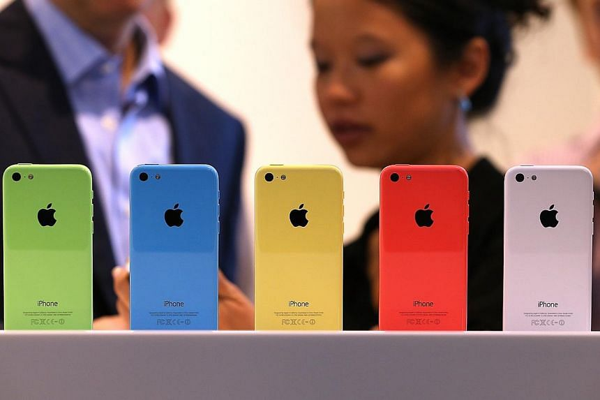 The iPhone 5C handsets, targeted at the budget market, are deemed too expensive even as a mid-range phone. The smartphone will start at $848 for the 16GB version when it goes on sale in Singapore next Friday.  The iPhone 5S boasts a fingerprint scann