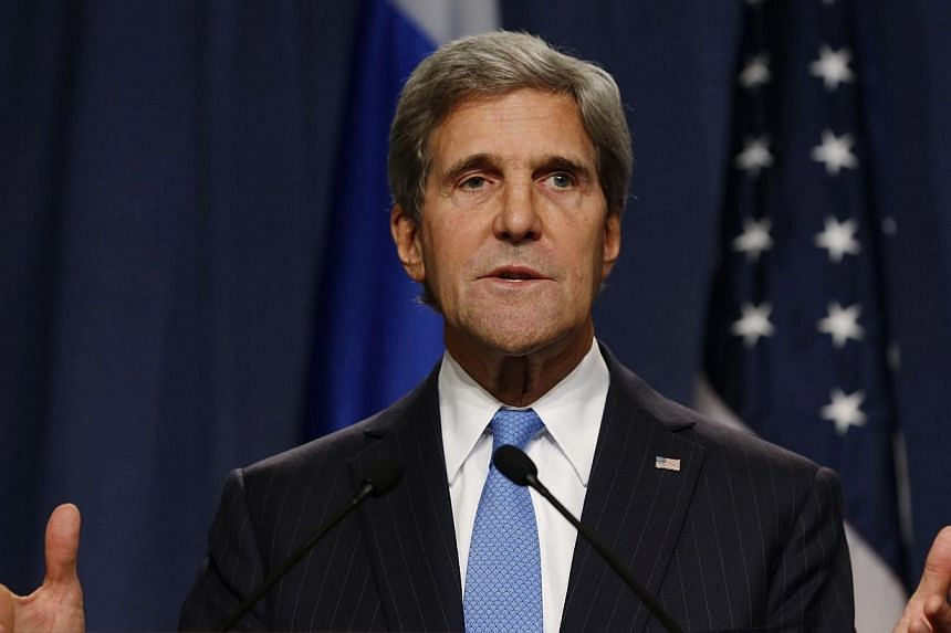 US Secretary of State John Kerry (above) will travel to Jerusalem on Sunday to hold talks with Israeli Prime Minister Benjamin Netanyhau on the progress made in the Middle East peace talks and Syria, a US official said. -- PHOTO: AP
