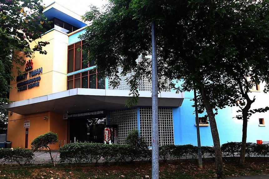 A police sergeant was found with a gunshot wound to his head in Bukit Timah Neighbourhood Police Centre (above) on Saturday morning, in an apparent suicide. -- ST PHOTO:LAU FOOK KONG
