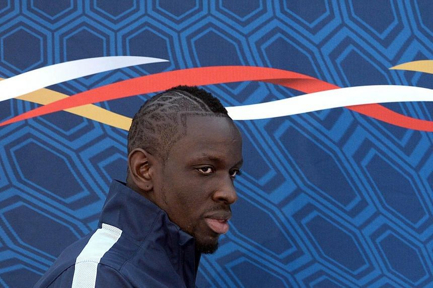 French international and Paris Saint-Germain' French defender Mamadou Sakho arriving for a press conference in Clairefontaine-en-Yvelines training center, near Paris on March 20, 2013. Mamadou Sakho, who could make his Liverpool debut at Swansea City