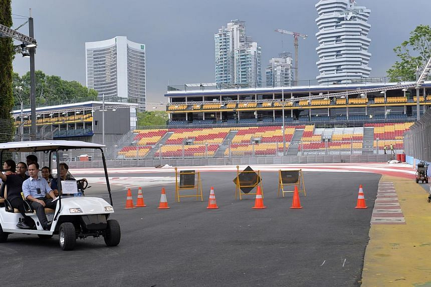 Exclusive behind-the-scenes tour of the Formula One Singapore Grand Prix's Zone 1.  Only limited tickets to the SingTel Singapore Grand Prix are available with just six days to go and organisers say they have already exceeded last year's total a