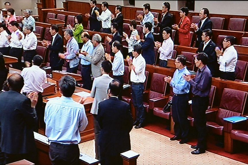 Mr Lee Kuan Yew has left a lasting legacy and achieved greatness through lifting a nation from poverty into prosperity, and improving countless lives, Leader of the House Ng Eng Hen said in Parliament on Monday, Sept 16, 2013. -- PHOTO: PARLIAMENT SC