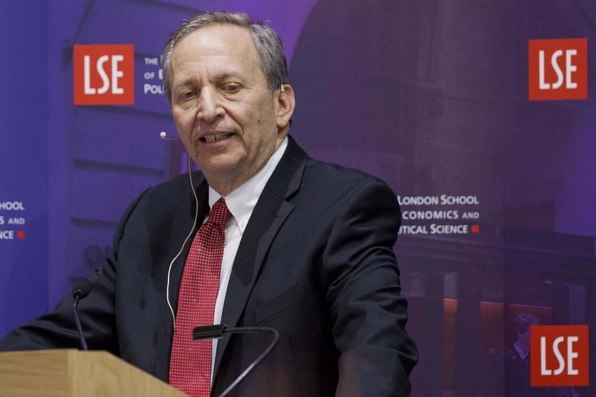 United States stocks on Monday, Sept 16, 2013, followed global markets higher, rallying on Mr Larry Summers' (above) withdrawal as a candidate to lead the US Federal Reserve. -- FILE PHOTO: REUTERS