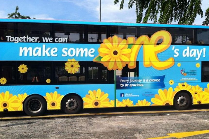The Singapore Kindness Movement (SKM) started its month-long campaign to promote acts of kindness in daily routines on Monday. -- ST FILE PHOTO: PEARL LEE