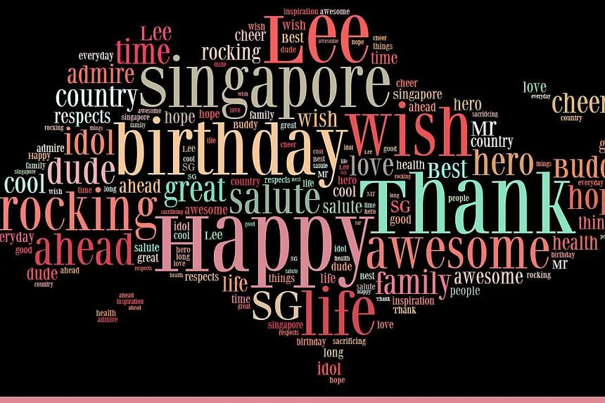 A word cloud featuring words associated with former Singapore prime minister Lee Kuan Yew. Ms Lin Huiling, the form teacher of class 5 Endurance at River Valley Primary School, submitted the work, which was done by her pupils, as a birthday tribute.&