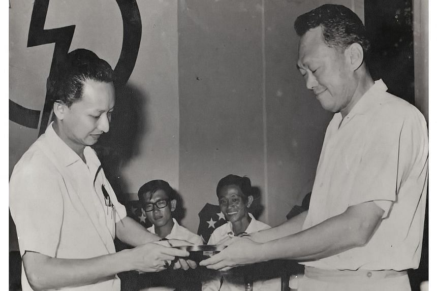 Mr Tay Bak Tee was recognised by Mr Lee Kuan Yew in 1976 for his active grassroots contributions. -- PHOTO: MR TAY BAK TEE