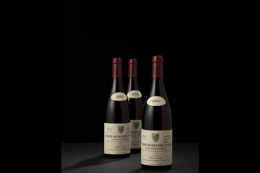 One lot of Vosne-Romanee Premier Cru 2001 Cros-Parantoux - part of Dr Gordon Ku's wine collection - was sold for HK$427,000, much higher than the estimated range of HK$260,000 to HK$380,000.