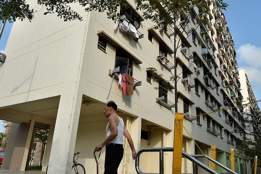 One-room rental flats at Champions Way, off Woodlands Avenue 1. The Ministry of National Development says the waiting list for rental flats is 1,900 applicants long, with the average wait for a unit being 7.5 months.