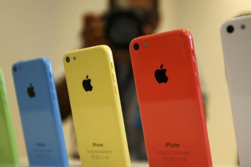 The five colors of the new iPhone 5C are seen after Apple Inc's media event in Cupertino, California on Sept 10, 2013. StarHub announced on Thursday, Sept 19, 2013, it will sell Apple's latest smartphone, the iPhone 5S, starting from $532 for th