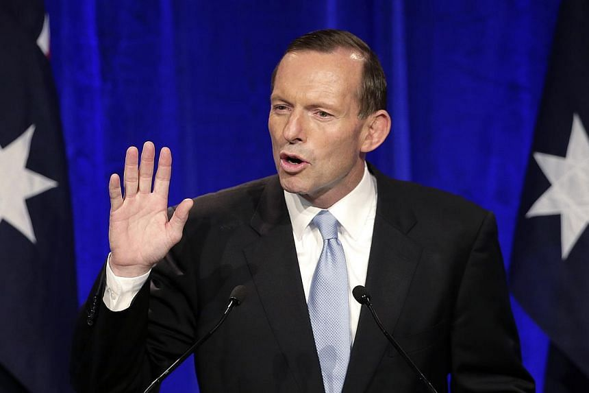 Opposition leader Tony Abbott makes a speech to party supporter in Sydney on Saturday, Sept 7, 2013, following his win in Australia's national election.Australia's new conservative government on Thursday, Sept 19, 2013, abolished an independent
