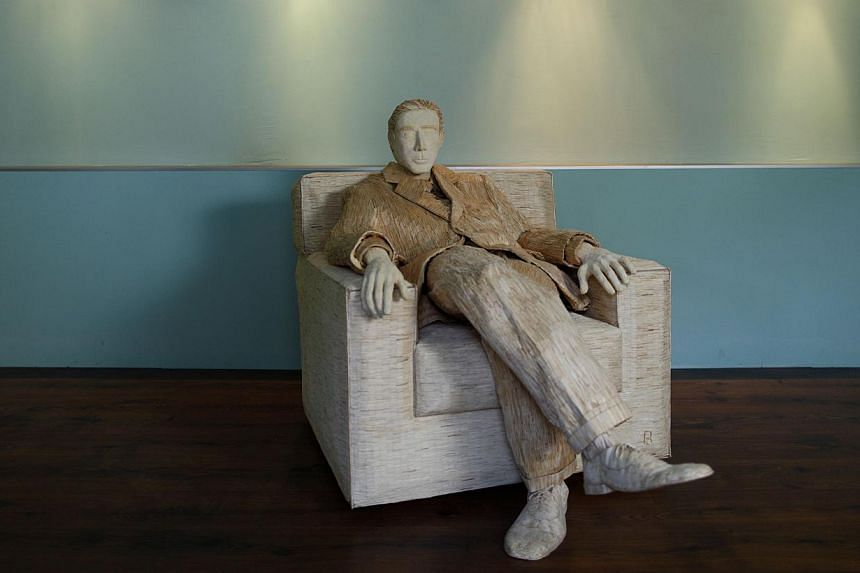 A life-size sculpture of Hollywood actor Al Pacino that is made of 117,000 matches is seen in Tomislav Horvat's studio in Podturen, north Croatia, Thursday, Sept 19, 2013.-- PHOTO: REUTERS
