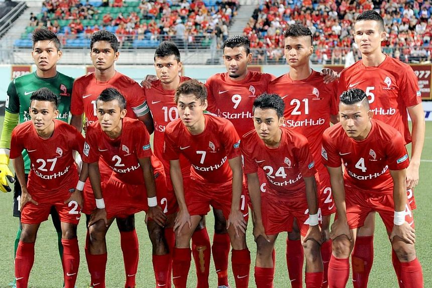 The LionsXII (above) have qualified for the Malaysia Cup quarter-finals after a 3-1 win over Kedah in Alor Star. -- ST FILE PHOTO:LIM SIN THAI